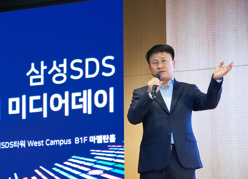 Leader of Samsung SDS Smart Factory Business Division, Jae-Cheol Lee explains the business strategy of Intelligent Factory
