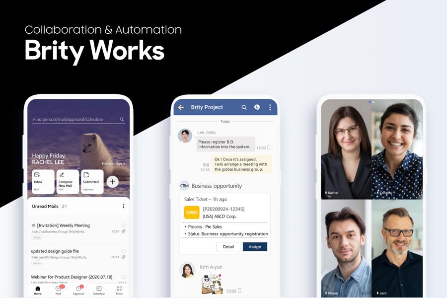 创建您的 Brity Works 帐户并邀请您的团队成员, 只需几次点击即可免费使用 Mail, Messenger 和 Meeting 功能。