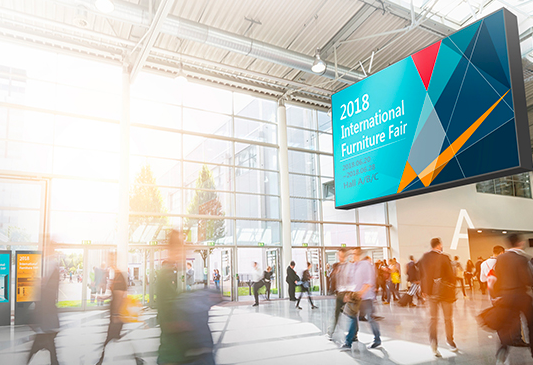 Flexible contents tailored to diverse exhibition centers