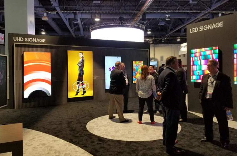 At DSE 2018, Samsung SDS promoted various visual, interactive displays that can also be combined with rule-based content targeting and prescriptive analytics.