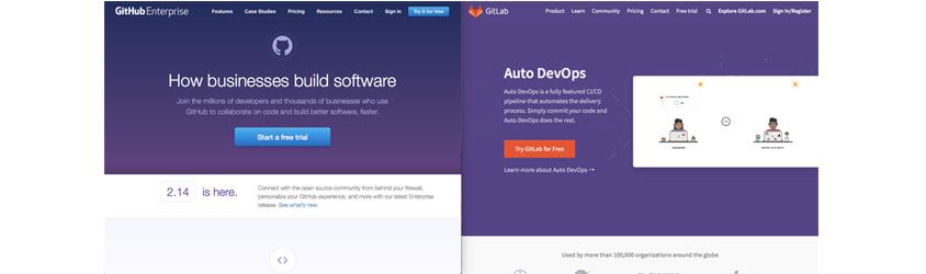 GitHub Enterprise and Gitlab