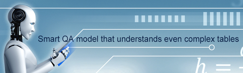 Smart QA model that understands even complex tables