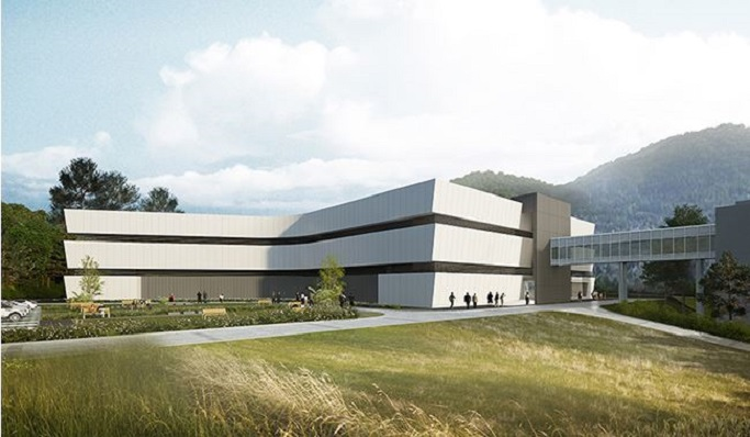 Chuncheon Data Center Perspective Drawing