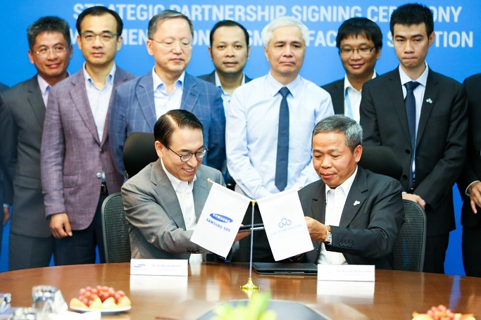 Strategic Agreement For Smart Factory Project Between Samsung SDS And Vietnam CMC