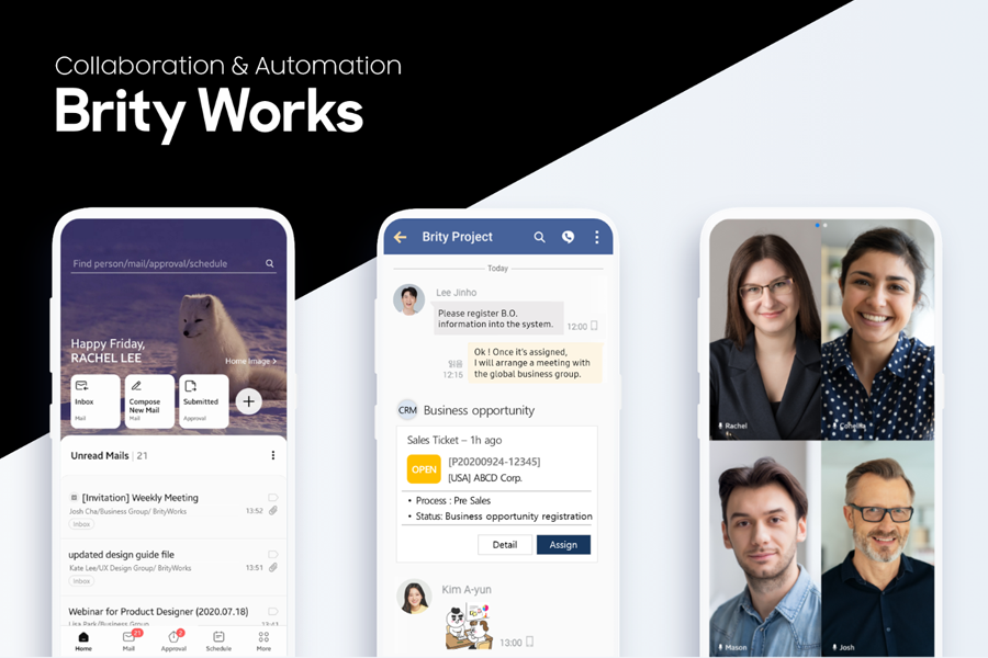 Brity Works, a cloud-based solution for enterprise collaboration and intelligent automation