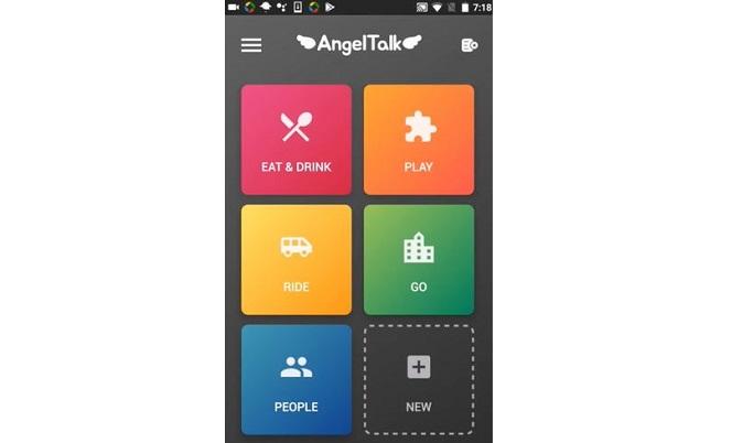 AngelTalk Screen - EAT & DRINK, PLAY, RIDE, GO, PEOPLE