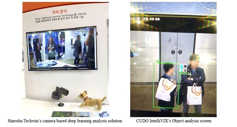 Hanwha Techwin's camera-based deep learning analysis solution, CUDO IntelliVIX's Object analysis screen
