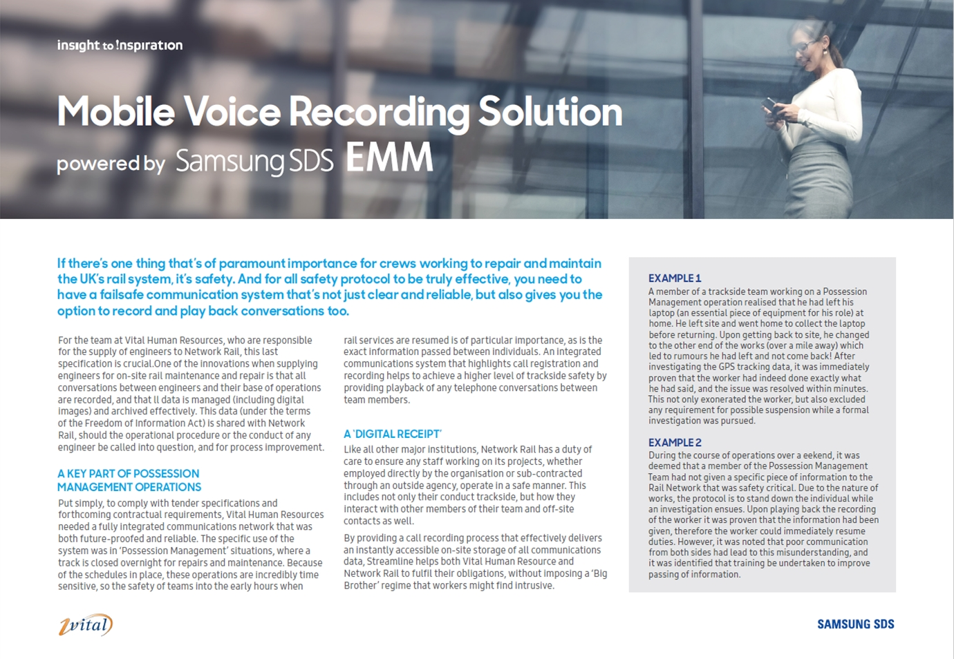 Samsung SDS – a new mobile recording solution for regulated Sectors