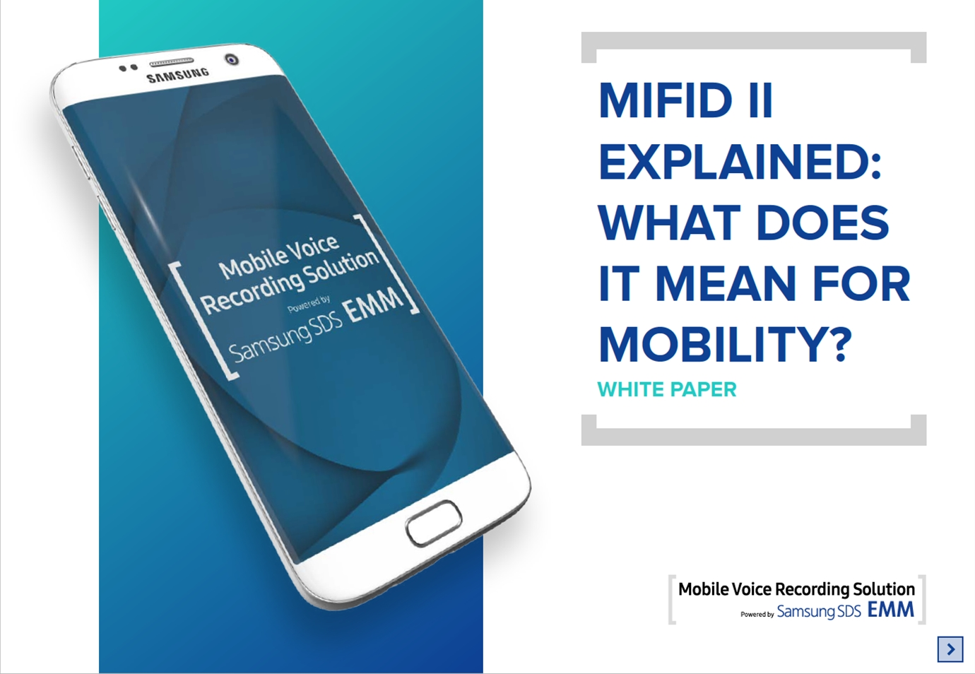 MIFID II EXPLAINED: WHAT DOES IT MEAN FOR MOBILITY?