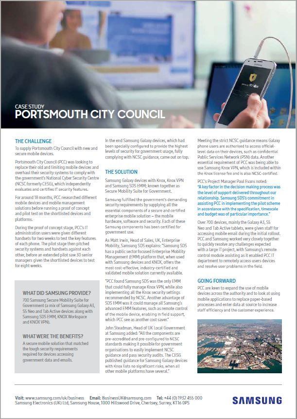 British City Council Brings a New Approach to Mobile Security & Data Compliance