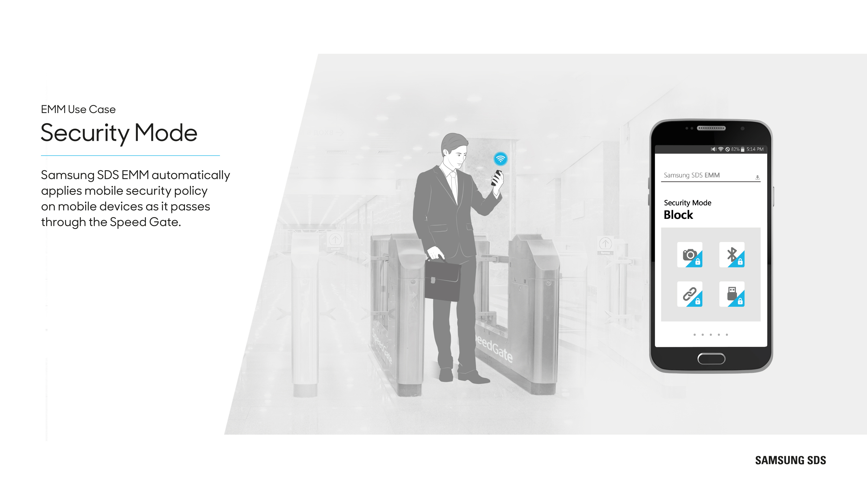 Automatically secure employee mobile devices
