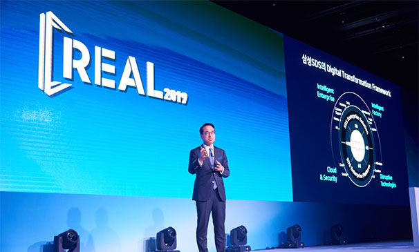 Samsung SDS, shared their vision for Digital Transformation at REAL 2019