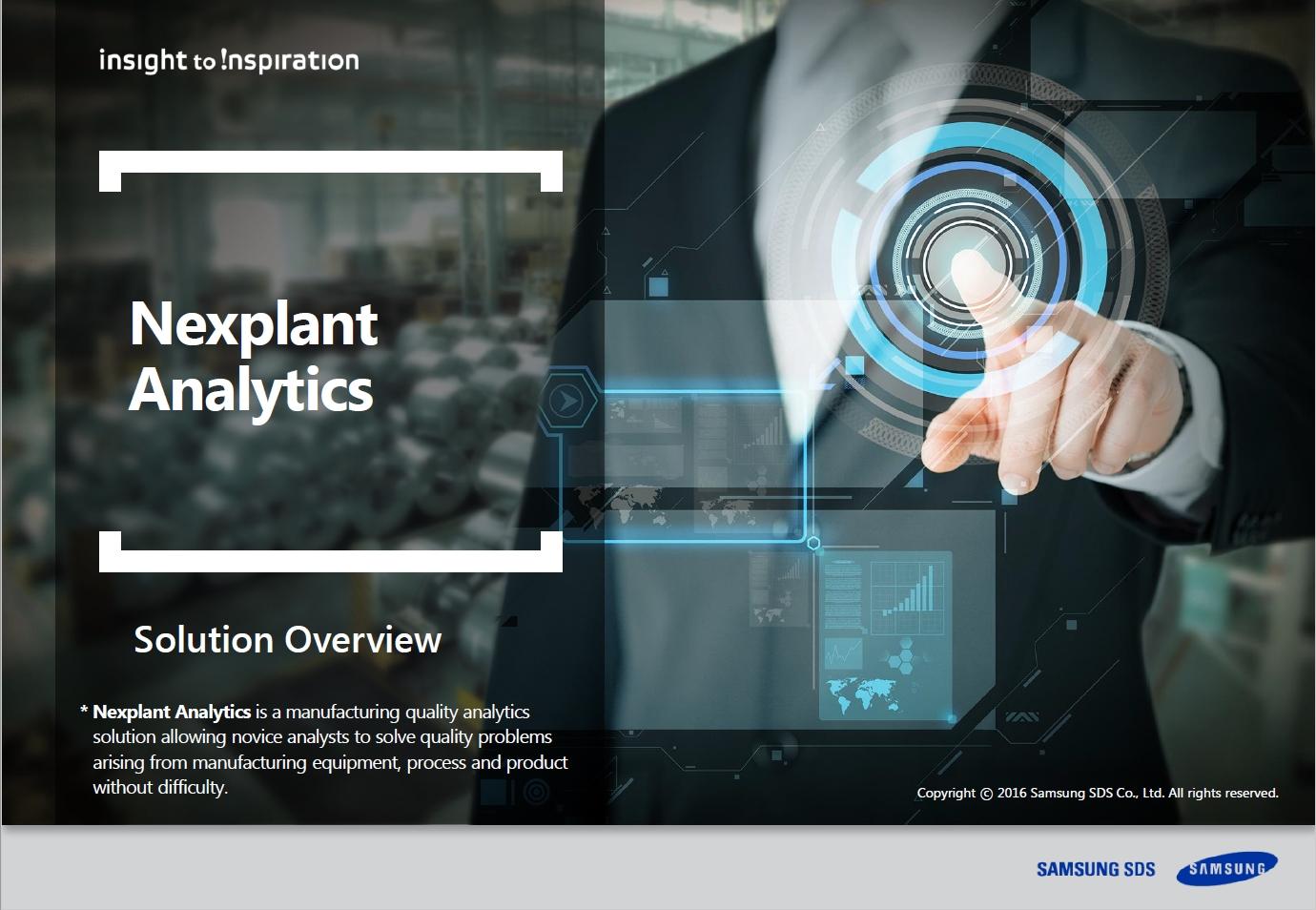 [Nexplant Analytics] Enhance manufacturing with unmanned big data analytics