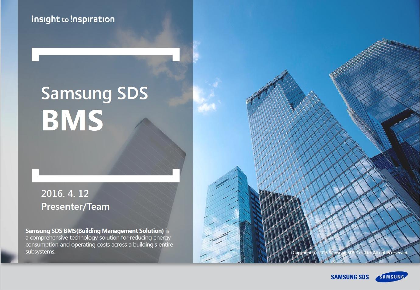 [BMS] Building management for the 21st Century