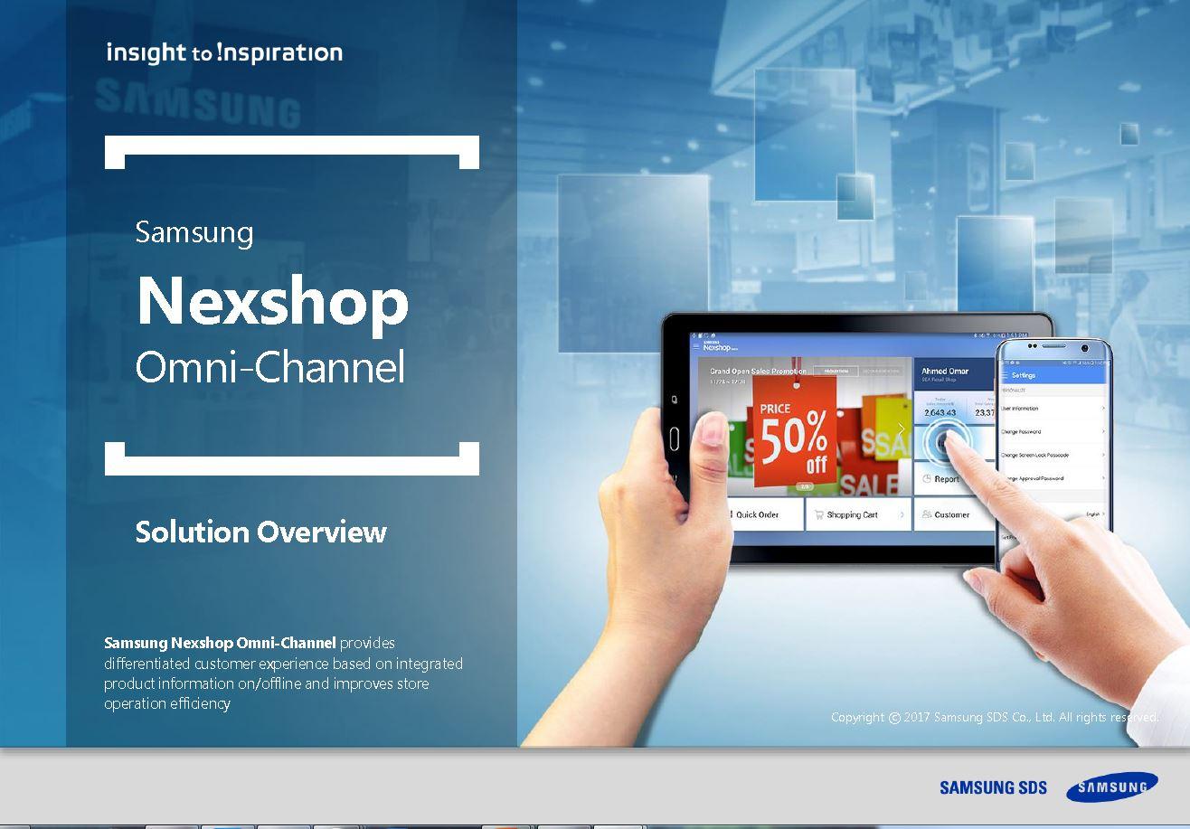 [Nexshop Omni channel]Mobile-based sales support solution