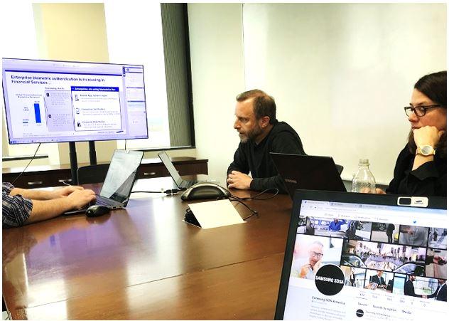 Samsung SDSA begins their portion of the live webinar