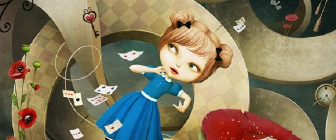 Fantastic illustration Wonderland