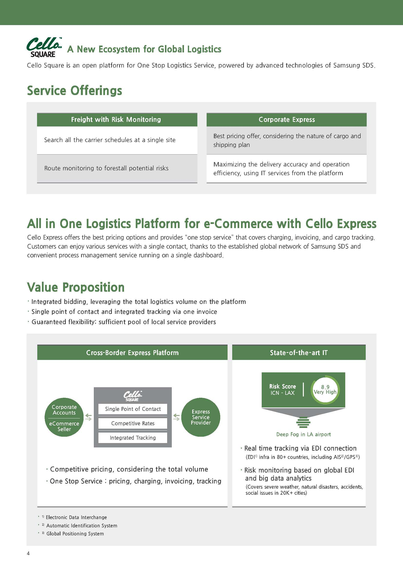 Cello Square, online logistics platform