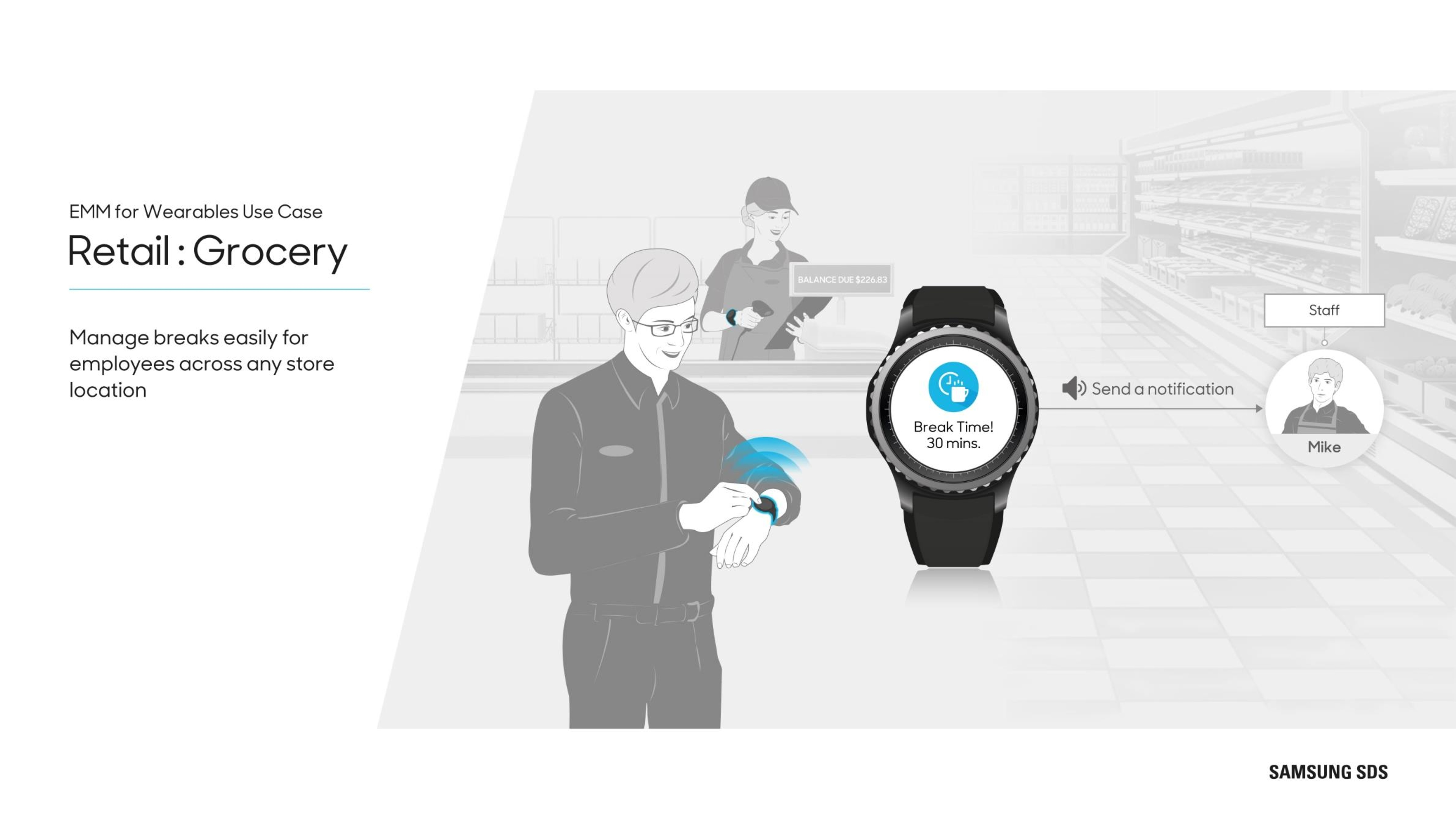 Wearables in Retail Manage breaks easily for employees across any store location