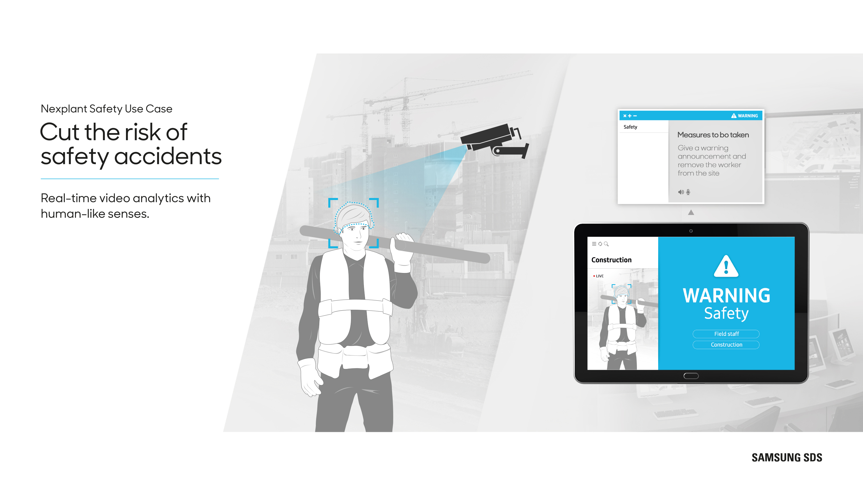 Cut the risk of safety accidents Real-time video analytics with human-like senses.