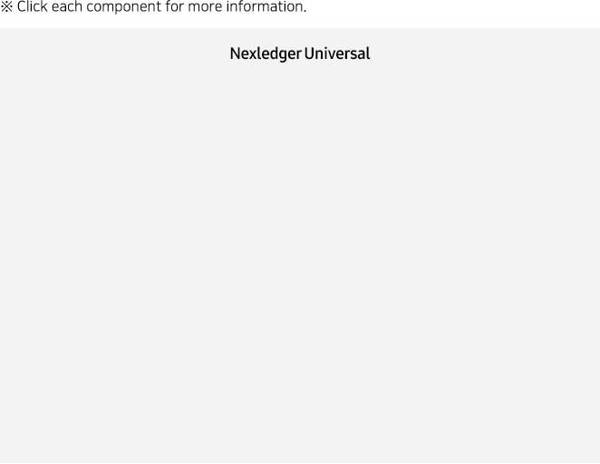 Click each component for more information of Nexledger Universal