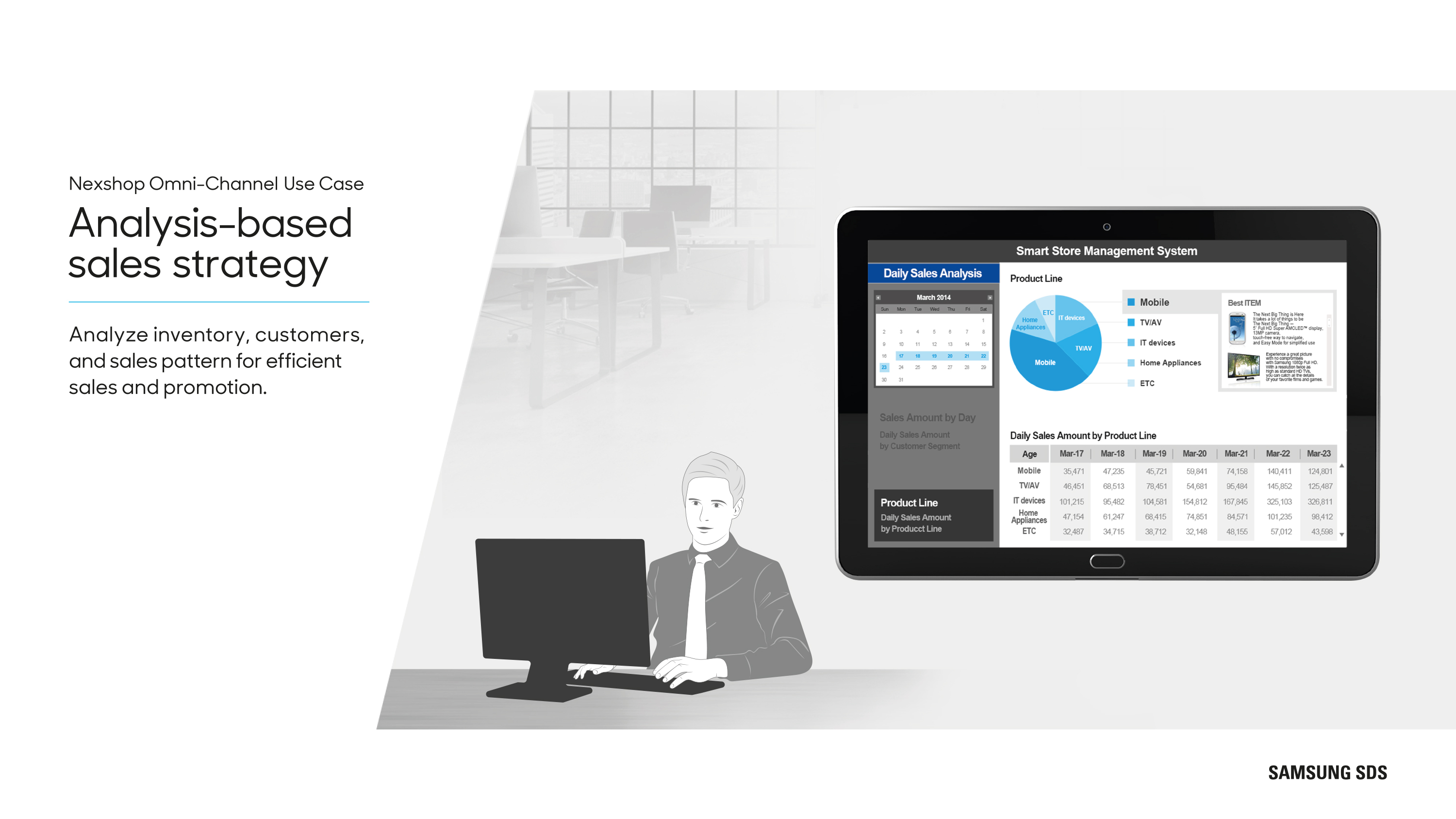 Analysis-based sales strategy Analyze inventory, customers, and sales pattern for efficient sales and promotion.