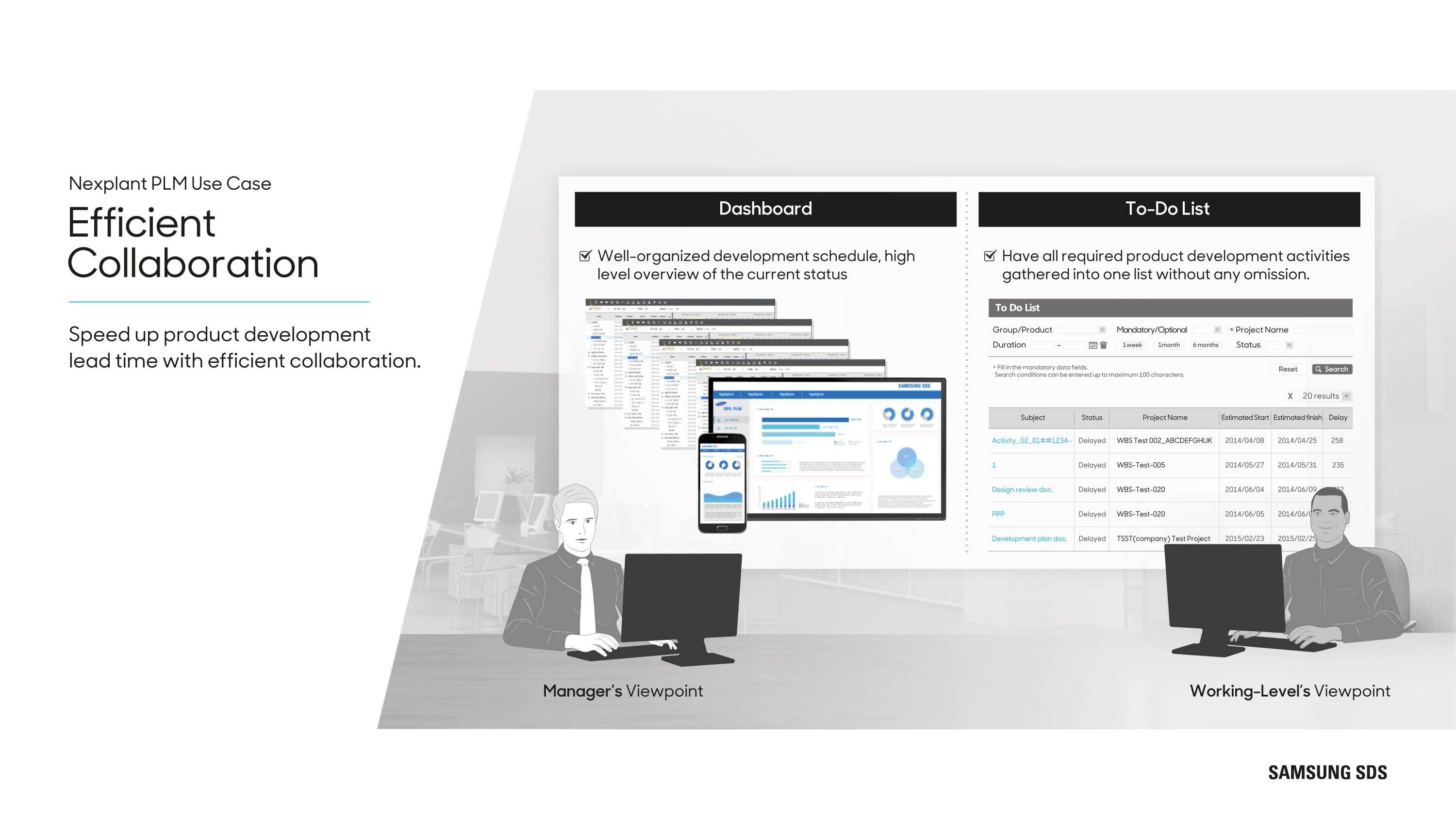 Efficient Collaboration Speed up product development lead time with efficient collaboration.