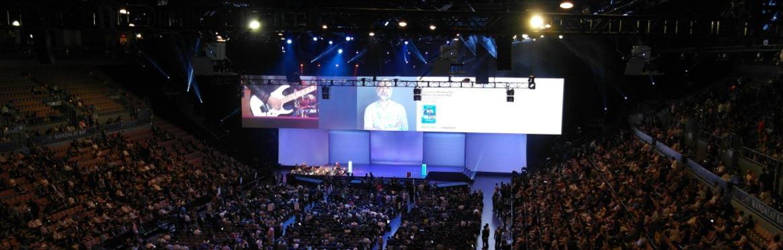 the scene of Keynote Session at IBM InterConnect 2017 (Source: IBM)