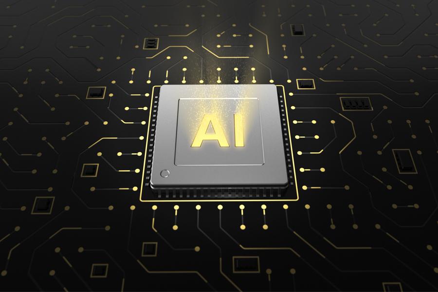 AI가 인프라에 적용된 모습을 형상화한 이미지