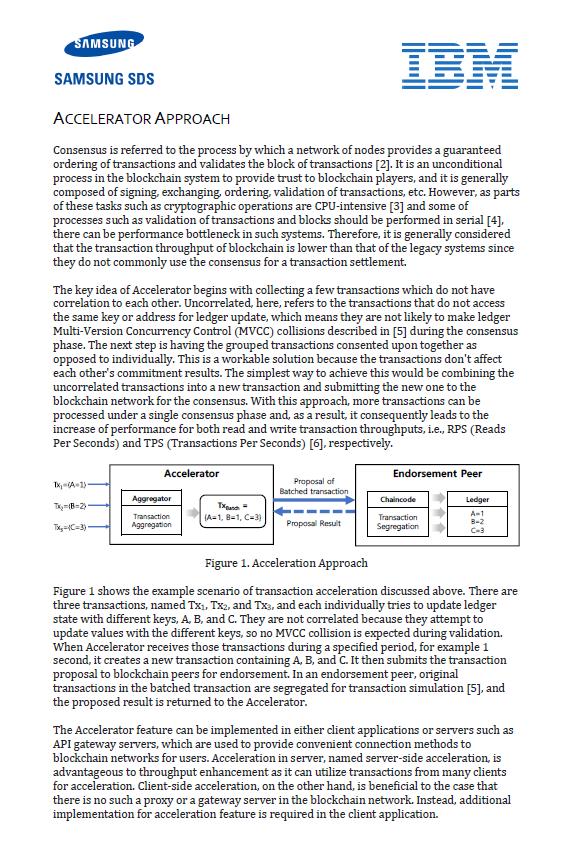 Nexledger Accelerator 핵심기술 분석 White Paper