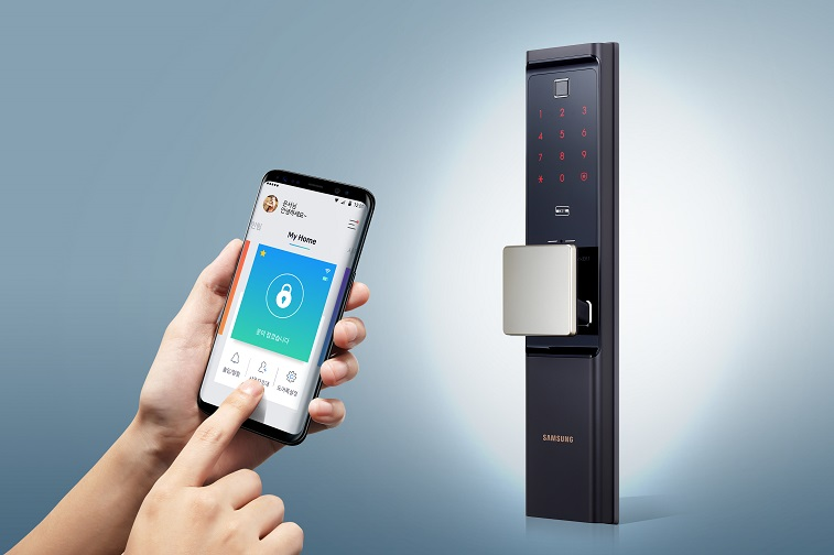 삼성SDS, 국내 최초 와이파이 일체형 IoT 스마트 도어록 출시