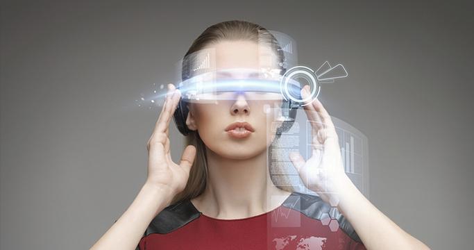미래의 VR 기술을 표현한 사진