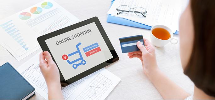 온라인 쇼핑을 표현한 사진