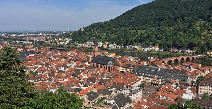 하이델베르크 성에서 내려다 본 하이델베르크 전경
