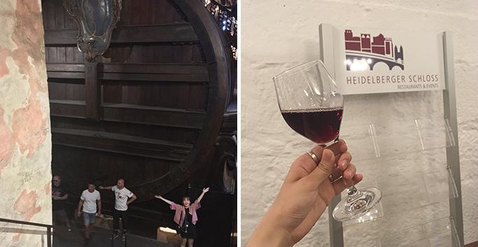 세계에서 가장 큰 와인통 그로세스 파스와 카페에서 마신 와인 한 잔