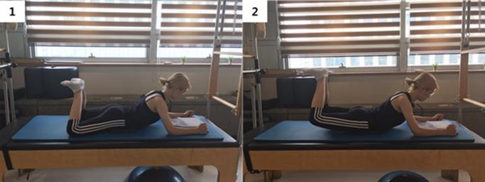 Heel squeeze & leg exetension 응용 동작1