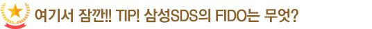 여기서 잠깐!! TIP! 삼성SDS의 FIDO는 무엇?