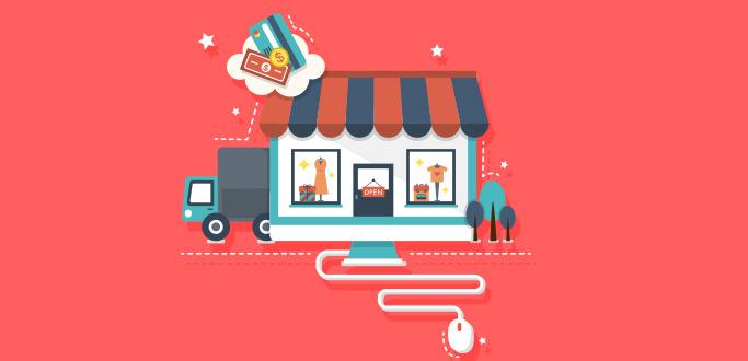 온라인 쇼핑을 표현한 이미지