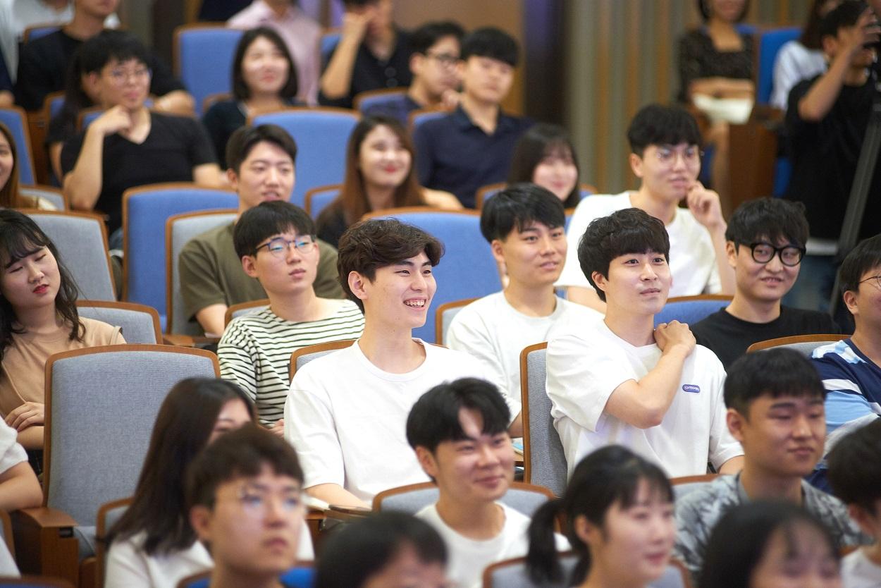 삼성SDS 대학생 IT 멘토링에 참석한 학생들