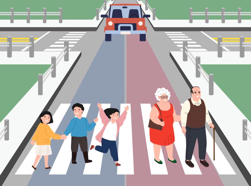 자율주행자동차는 어린이와 노인 중에 누구를 치게 될까? 출처 : MIT Moral machine