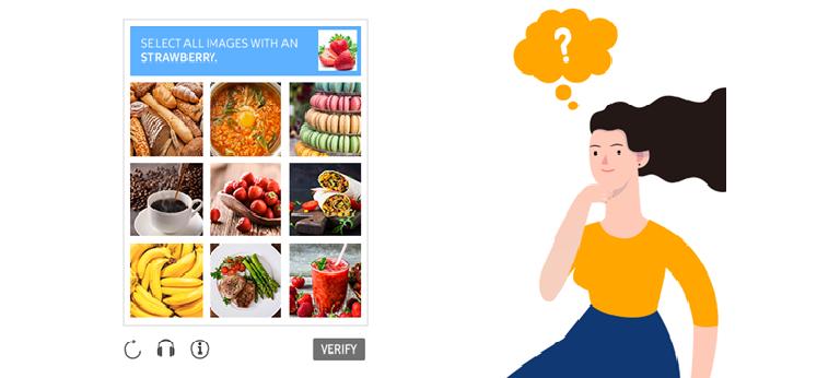 딸기가 있는 이미지를 모두 선택하는 IMAGE CAPTCHA