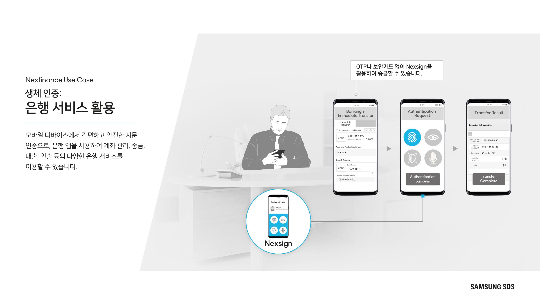모바일 디바이스에서 간편하고 안전한 지문 인증으로, 은행앱을 사용하여 계좌관리, 송금, 대출, 인출 등의 다양한 은행 서비스를 이용할 수 있습니다.