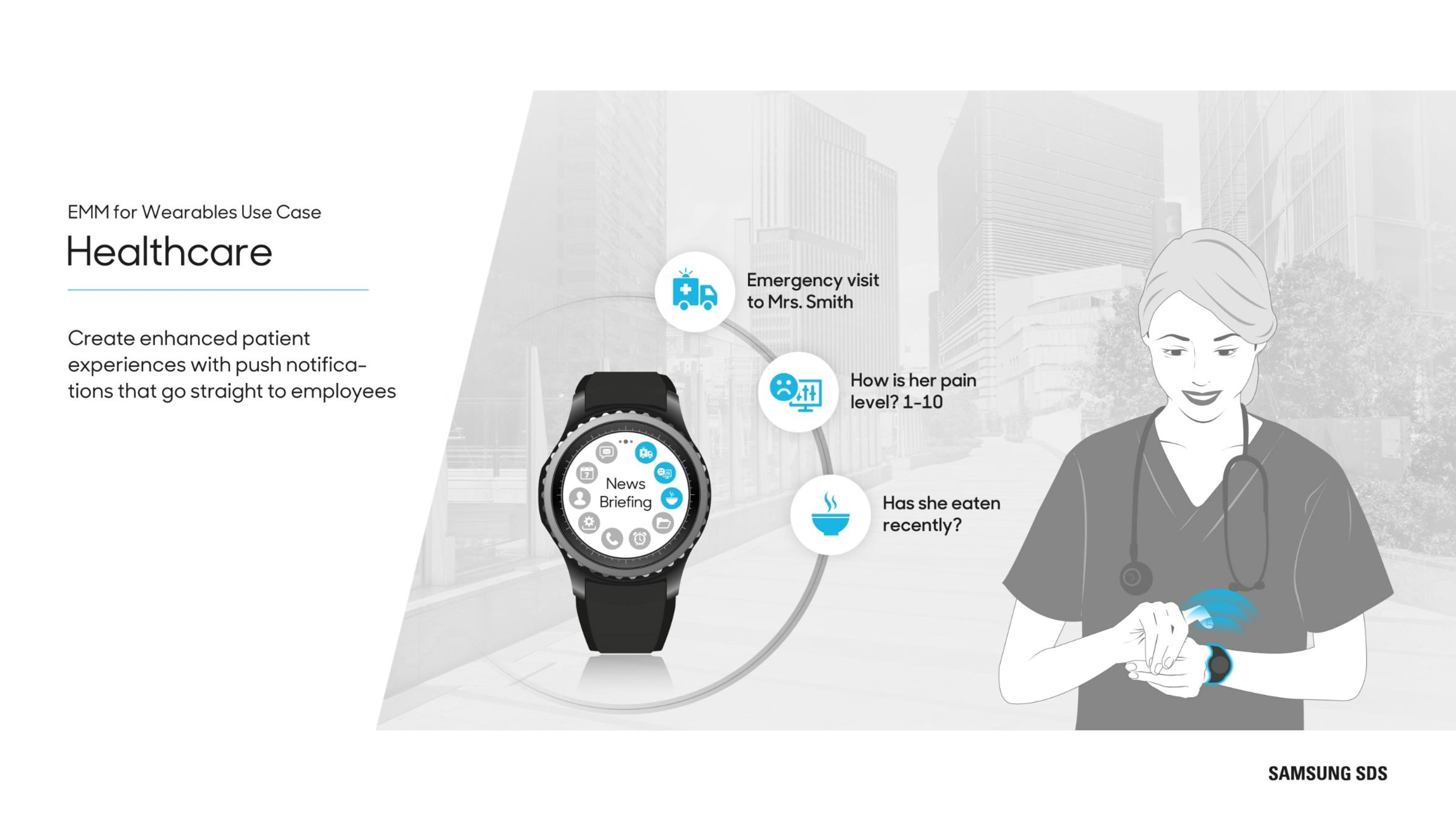 Wearables in Healthcare Create enhanced patient experiences with push notifications that go straight to employees