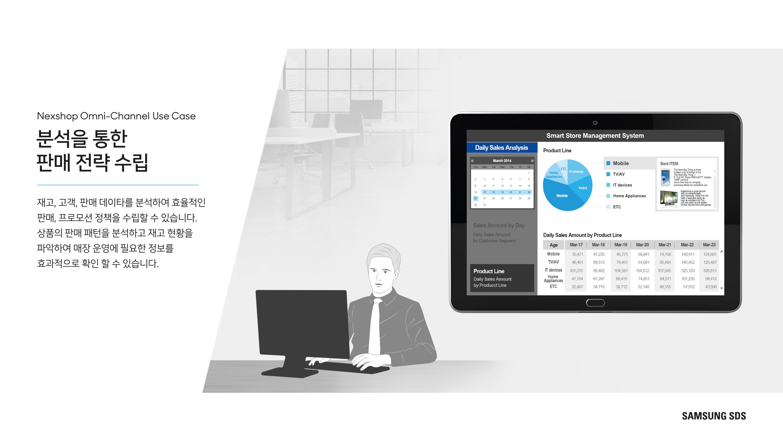 분석을 통한 판매 전략 수립 재고, 고객, 판매 데이타를 분석하여 효율적인 판매, 프로모션 정책을 수립할 수 있습니다. 상품의 판매 패턴을 분석하고 재고 현황을 파악하여 매장 운영에 필요한 정보를 효과적으로 확인 할 수 있습니다.
