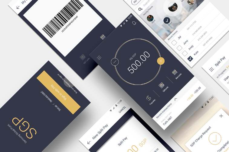 Nexledger블록체인 플랫폼을 활용한 Simple UX기반 포인트 결제와송금 서비스인 삼성 SDS의 Digital Payment(SGP) 모습