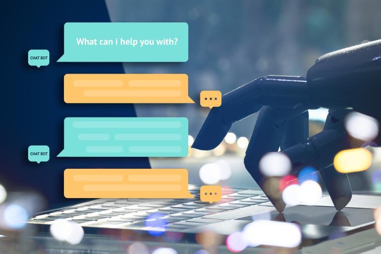 로봇이 노트북을 통해 답변하는 모습이 메신저 모습으로 노출됨