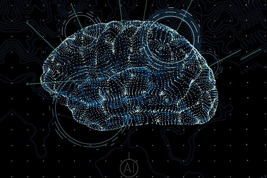 인공지능을 형상화한 이미지