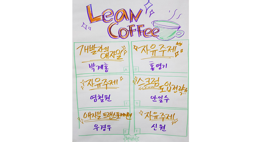 Agile Korea Conference 2018 - Lean Coffee 6개 주제들