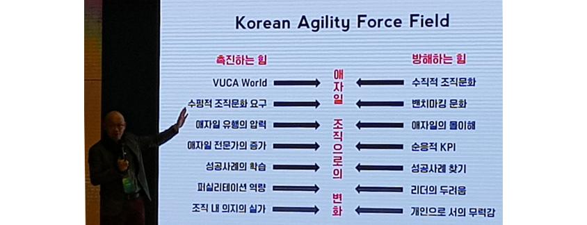 Korean Agility Force Field 설명 프리젠테이션 장면