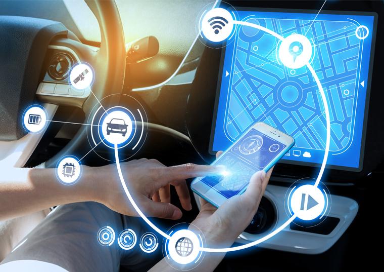 차량전용 스마트폰 앱 이미지